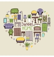 Sweet Home concept vector image