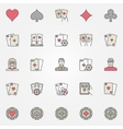 Texas holdem poker icons vector image