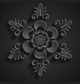 Traditional balinese ornament Stone flower vector image