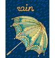 Beautiful umbrella vector image