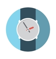 Flat Design Concept Wristwatch With Long Sha vector image