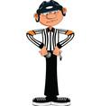 Hockey referee vector image