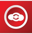 Cloud exchange icon on red vector image