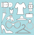 women fashion icons vector image vector image