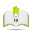 recycle symbol eco bulb design vector image