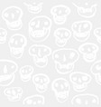 white on white skulls pattern vector image