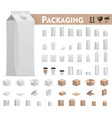 retail packages set vector image vector image