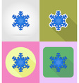 christmas and new year flat icons 11 vector image vector image