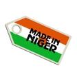 Made in Nigeria vector image vector image