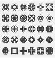 design elements set  tribal cross vector image