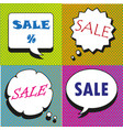 great sale speech bubbles collection vector image