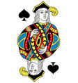 jack of spades isolated french version vector image vector image