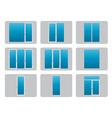 Plastic PVC Windows vector image