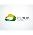Cloud storage logotype set flat design vector image vector image