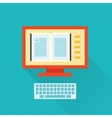 online flat library icon vector image vector image
