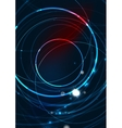 Abstract color glowing lines in dark space with vector image vector image