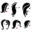 black hair styling vector image vector image