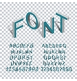 Isometric letters 3d transparency vector image