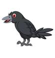 cartoon crow posing vector image