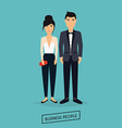 Business man and woman in flat design The meeting vector image