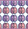 color creative brain and mental healthy background vector image