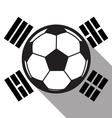 football icon with South Korea flag vector image