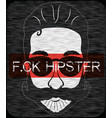hipster t shirt graphic design vector image