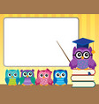 owl teacher and owlets theme image 9 vector image