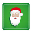 colorful square frame with christmas santa claus vector image