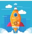 Start up rocket vector image