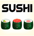 sushi 2 vector image