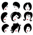 Black hair styling for woman vector