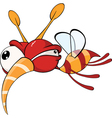 Cartoon of red fly insect vector image vector image