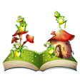 Book of toads and toadstool vector image