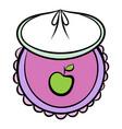 baby bib icon cartoon vector image