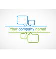 Business talk bubble logo icon vector image