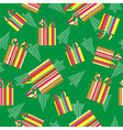 Christmas gifts and trees background vector image