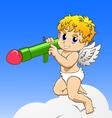 Cupid with Bazooka vector image