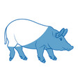 cute pig cartoon animal farm image vector image