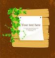 ivy back vector image