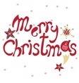 Merry ChristmasHand drawn doodle isolated vector image