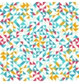 Seamless geometric vintage pattern With triangles vector image