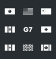 set of g7 union icons vector image