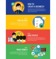 Startup business creation infographic Command vector image