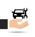 insurance car support tool graphic vector image