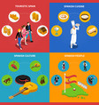 spain concept icons set vector image
