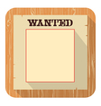 Wanted poster icon flat style design vector image