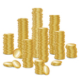 gold coins vector image