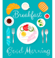 Breakfast green vector image