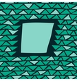 abstract triangle frame vector image